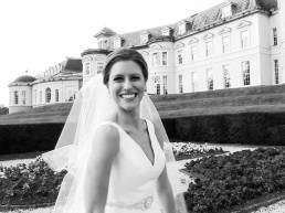 Video Still: Excited bride in front of her wedding venue