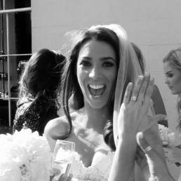 Video Still: An Excited Just Married Bride